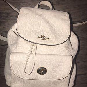 Coach ivory white mini backpack